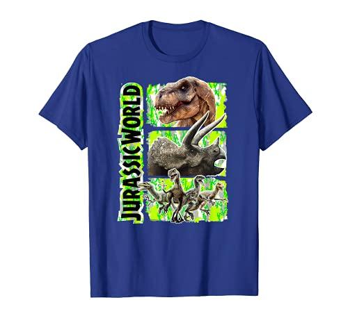 Jurassic World Green Camo Dinosaur Trio Maglietta