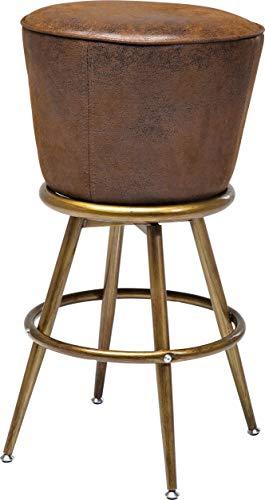 Kare Design Taburete Bar Lady Rock Vintage, marrón, 74 x 48 x 48 cm