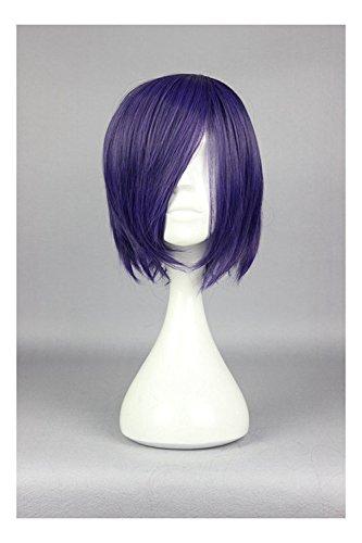 COSPLAZA Perücke Tokyo Ghoul Toka Kirishima Touka Kirishima kurz Volett Lila Anime Cosplay Wig Mädchen Haarteil