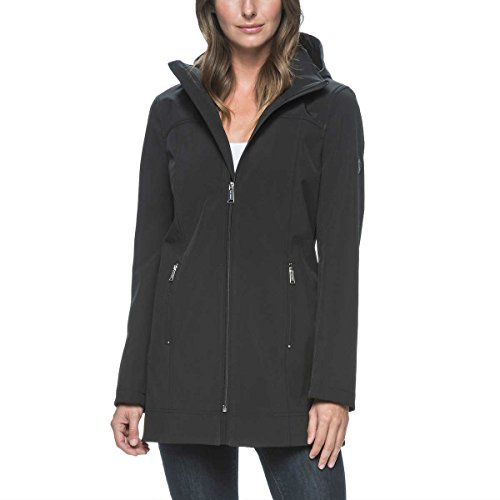 Andrew Marc Ladies Long Softshell Jacket - Small - Black