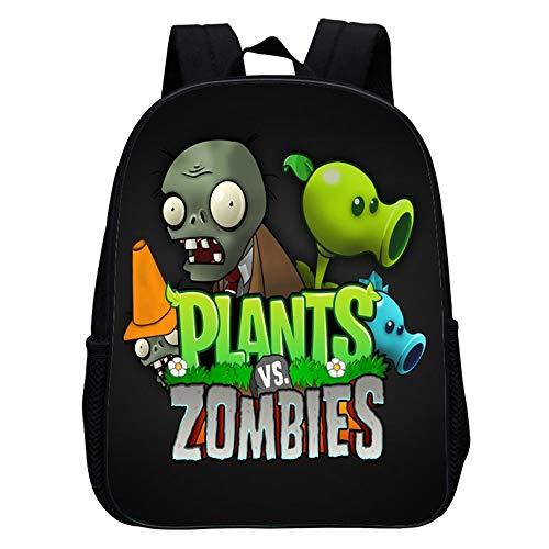 Plants vs. Zombies Personalidad Mochila de impresión para niños de 1-6 años Mochila Casual Mochilas Escolares