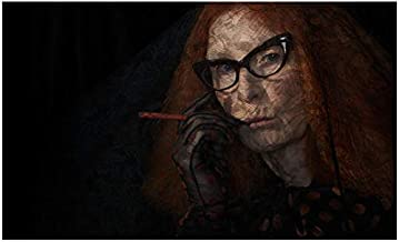 American Horror Story Coven Francis Conroy as Myrtle Snow smoking cigarette 8 x 10 Inch Photo