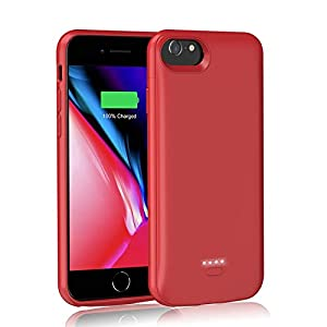 Aedlyk Upgrade Battery Case For Iphone 66s78se 2020 4000mah Rechargeable Charging Case Magnetic Slim Phone Stand External Battery Pack Protective Charger Case For Iphone 66s78 47inch Red