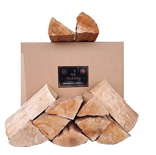 BlackSellig 20 Kg Smokerholz - Räucherholz Buche ohne Rinde !!! 25 cm Länge trocken & sauber & schimmelfrei