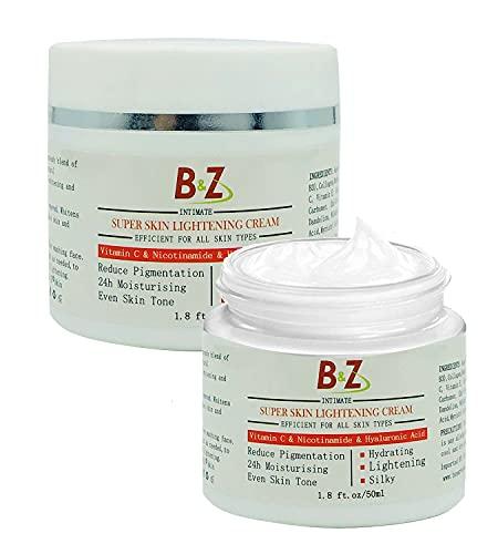 Super Skin Brightening Cream, Freckle Removal Cream, Anti Ageing Facial Treatment Cream with Vitamin C 50ml