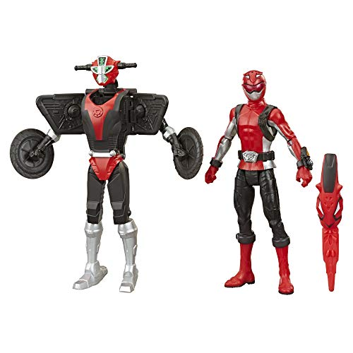 Power Rangers Beast Morphers Figuras 15 Cm Ranger Rojo Y Morphin Cruise Beastbot (Hasbro E73245X0)