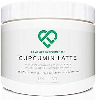 Curcumin Latte | 157.5g - 15 Porciones | 4 gramos de curcumina (95% curcuminoides) por ración | Con jengibre, canela, leche de coco en polvo y pimienta negra | Love Life Supplements