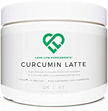 Curcumin Latte by LLS 157 5g – 15 Servings 4 Grams of Curcumin 95 Curcuminoids per Serving with Ginger Cinnamon Coconut Milk Powder and Black Pepper Love Life Supplements Estimated Price : £ 34,95