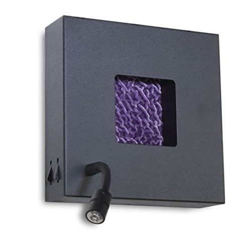 Faro Barcelona Cube dt00057 – Applique murale (Ampoule incluse), métal noir rugueux, Couleur Noir