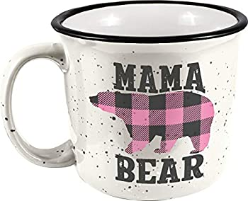 Spoontiques Mama Bear Ceramic Camper Mug 14 oz White