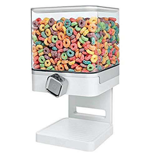 Cocina sellada Cereal Dry Food Storage Tank Box Snacks Semillas Caramelo Dispensador Herramientas de almacenamiento de cocina China Blanco