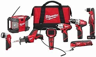 Milwaukee 2495-28 M12 Combo 8 tool Kit W/2 Cmpt Bat, 1 Xc Bat