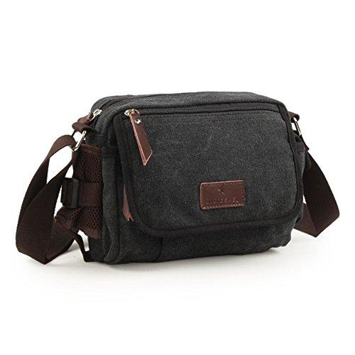 Sincere® sac d'épaule de loisirs hommes / paquet diagonale / sac extérieur / sac de sport noir