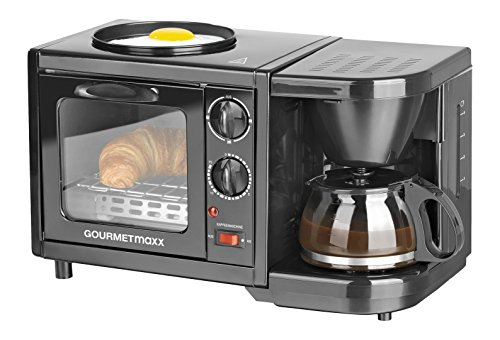 GOURMETmaxx 00794 Früsstückscenter zum Aufbacken, Braten und Kaffeekochen