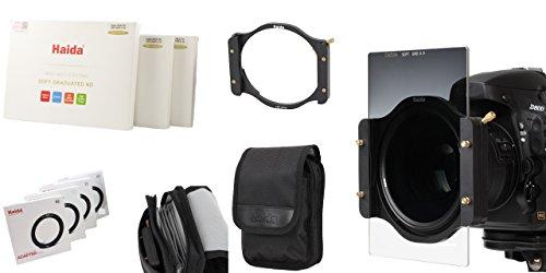 HAIDA NanoPro MC Verlaufsfilterset - Filterhalter, Anschlussringe 67-82 mm sowie 3er Set NanoPro MC GND Soft Edge Verlaufsfilter (ND 0.6, 0.9, 1.2) - 150 mm x 100 mm - Inkl. Haida Filtertasche