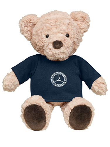 Mercedes-Benz Collection Beiger Plüschbär | Plüschbär aus Polyesterplüsch | Kuschelbär mit Mercedes-Logo | Made by NICI for