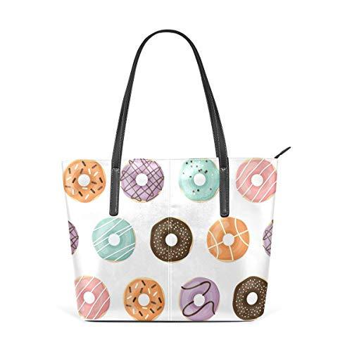 XGBags Custom Borsa a tracolla in pelle PU da donna Handbag Sweet Donuts Shoulder Bag Tote Bag for Girls Women