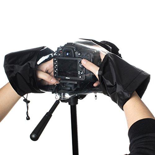 Ges copertura pioggia, antipioggia in nylon impermeabile DSLR parapioggia per fotocamere Nikon Canon Pentax