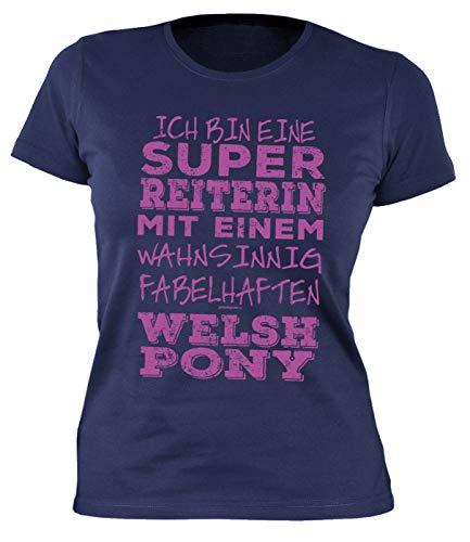 Paard shirt voor vrouwen dames t-shirt Welsh Pony paard ruiterster spreuken fun paardenmotief