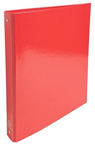 Exacompta - Réf. 519295E - 1 Classeur rembordé en papier pelliculé Iderama 4 anneaux 30mm - dos de 4 cm - 32 x 26 cm - rouge