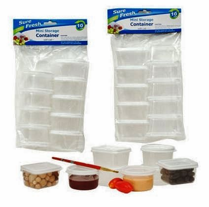 Mini Storage Containers with Lids, Sure Fresh, Plastic, Reusable, Round and Rectangular 20-pc Set