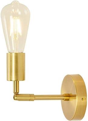 Applique de style européen, applique murale, applique murale rétro Edison industrielle, café de cuisine à domicile Golden 1 lumière (ampoules incluses)