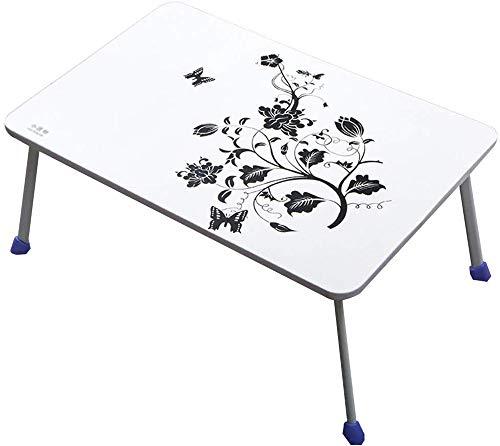 HCYTPL Klaptafel, opvouwbare bed-houder, met beweegbare lappendek, voor filmpjes op bed of als persoonlijke eettafel wit