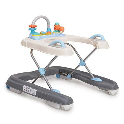 Lauflernwagen Dotty 2 in 1 mit Spielcenter, hohe Rückenlehne, Schwenkräder vorne blau
