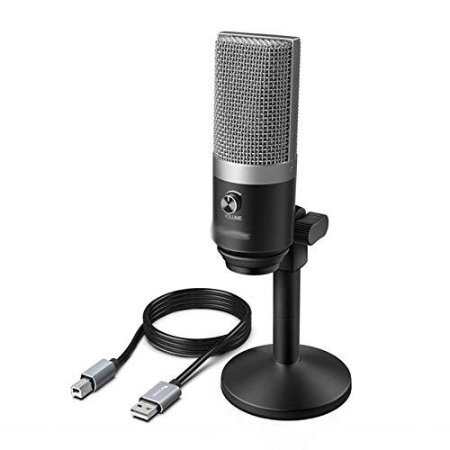 ZNBJJWCP Micrófono USB para computadoras portátiles y computadoras para la grabación de podcasting de Voz de transmisión (Color : Silver)