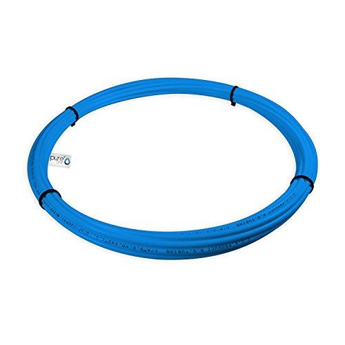 PureOne Systemflex Osmose-Schlauch 1/4 Zoll Wasserschlauch für Wasserfilter, Side-by-Side SBS Kühlschrank, Osmoseanlage, Spülmaschine, Waschmaschine oder Aquarium. Größe wählbar. Blau