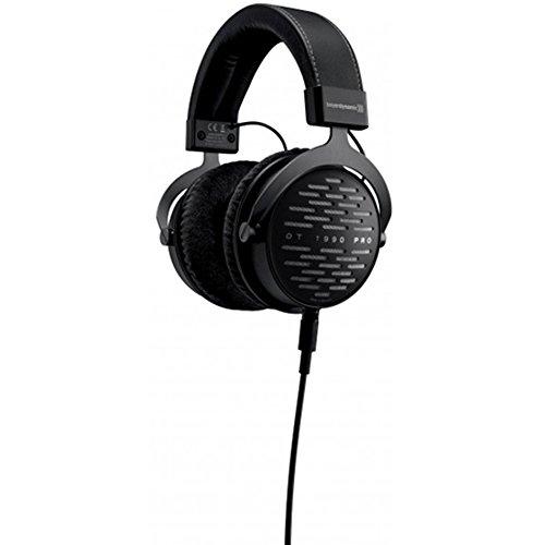 BeyerDynamic DT 1990 Pro Studio Headphones with Slappa HardBody PRO Full Sized Case Black & Universal Wood Headphone Stand