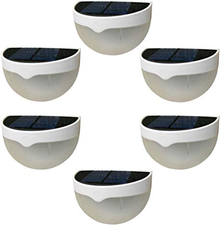 AIZYR Kabellos Zaunlichter, Draussen Wasserdicht Sensor Garden Dekorative Lampe 6 LED Gartenlicht, für Zaun, Hof, Garten 80 g   0,18 lb (Packung mit 6),WarmWeißlight
