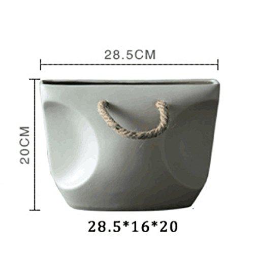 QYL Witte grijze keramische vazen Elegant zakvorm ontwerp voor hoofddecoratie B