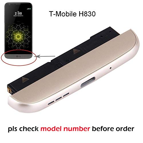 Ogodeal H830 Bottom Cover Cap+ Microphone Replacement + Loudspeaker Sound Modules + Phone Battery Charging Usb-c Headphone Slim Port Assembly Replacement For LG G5 T-Mobile Carrier H830 (Gold)