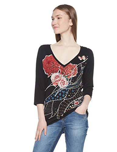 Desigual TS_keppary Camiseta, (Negro 2000), X-Small para Mujer