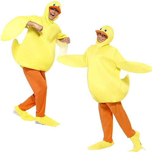 Amakando Ganzkörperkostüm Ente Entenkostüm Unisex Tierkostüm Duck Karnevalskostüm Küken Witziges Kostüm Erwachsene Faschingskostüm Badeente