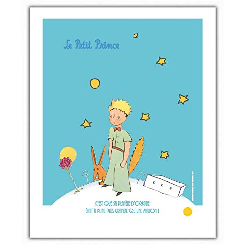 ZigZag Editions Poster Affiche Offset Le Petit Prince avec Le Renard (18x24cm)