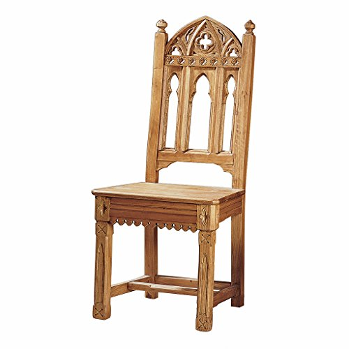 Design Toscano Sudbury Gothic Side Chair in Distressed Golden