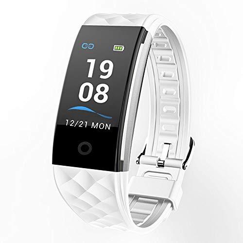 YUYLE Smartwatches Kleurrijk armbandsportfietsfiets-fiets-fiets-armband, hartslagbewaking, afstandsbediening voor iPhone, zwart