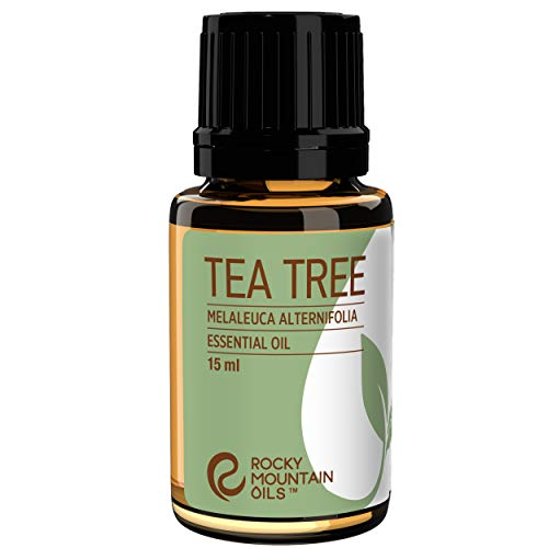 Rocky Mountain Oils Tea Tree Essential Oil - 100% Pure and Natural Oils for Aromatherapy Diffuser, Topical, and Home - Nail, Face, Hair, and Skin Care Essential Oils - 15ml