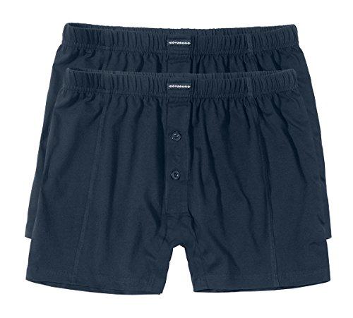Götzburg Herren Boxershort, Unterhose, Shorts - Baumwolle, Single Jersey, Navy, Uni, mit Eingriff, 2er Pack 5