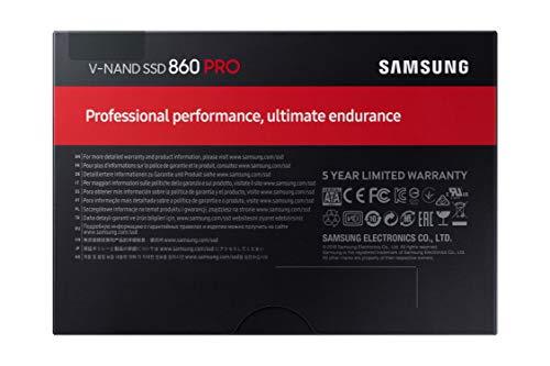 Samsung Memorie MZ-76P2T0 860 PRO SSD Interno da 2 TB, SATA, 2.5