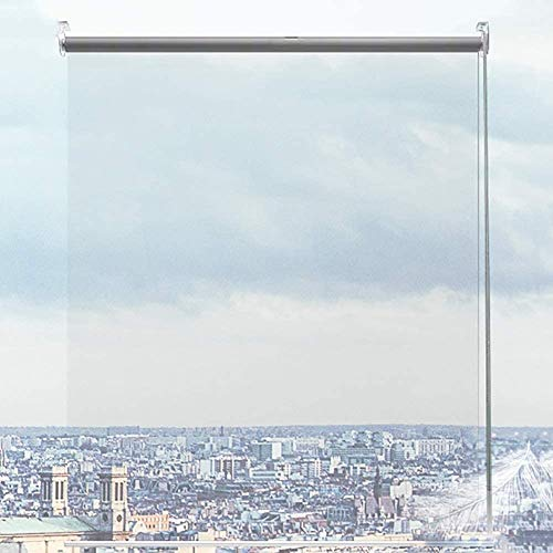 Persianas enrollables Estores Al Aire Libre Patio Interior, Plastico Super Transparente Cocina Ajuste, 0,8/1/ 1,2/1,4 m de Ancho (Size : 140×140cm/W×H)