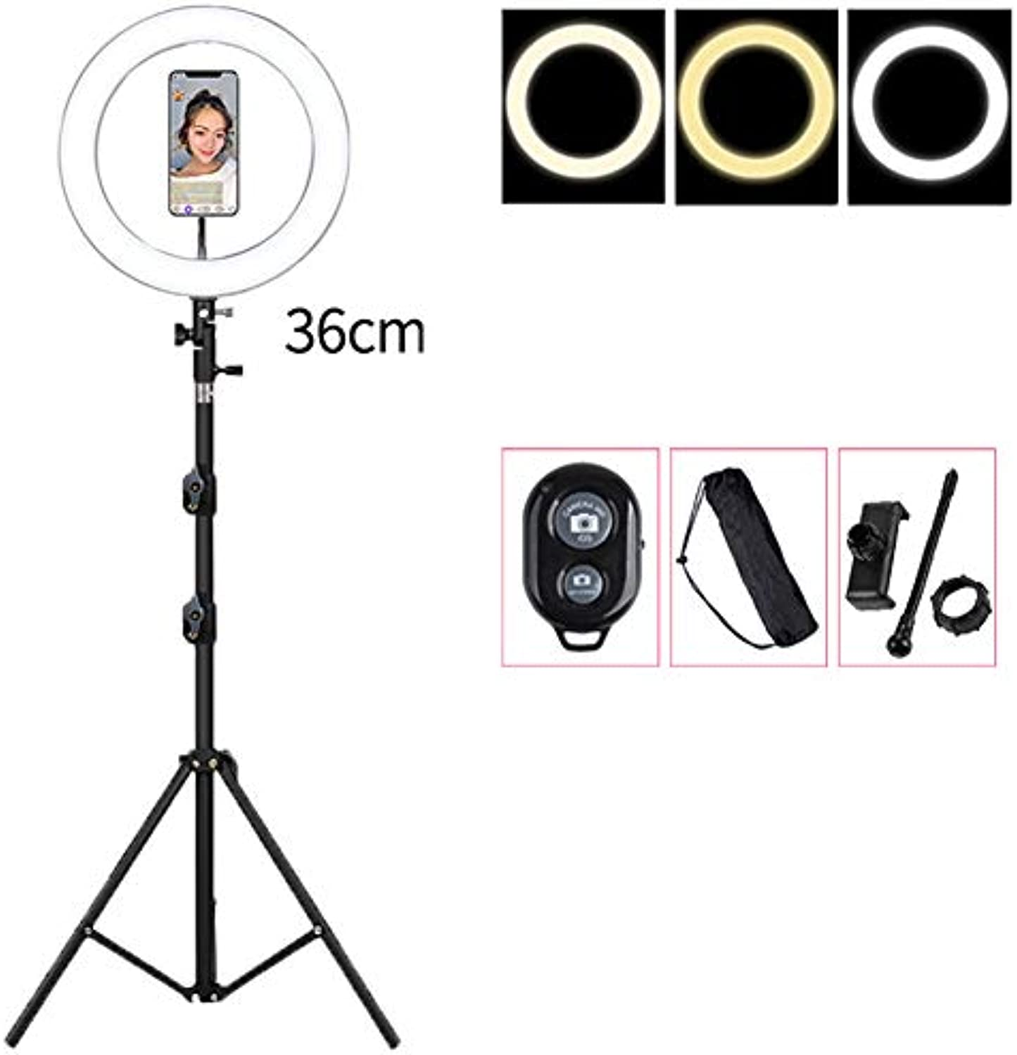 36cm LED Ringlicht mit 55cm Stand Dimmbarem USB Video Licht Für Live Streaming Kamera Vlogging