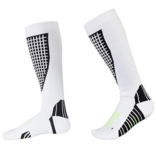 Chaussettes de Compression Hommes Chaussettes Hautes de Ski Femmes Thermiques Respirantes Socquett pour Randonnée Trekking Cyclisme Sportive Courir Hiver Athlétisme Socks
