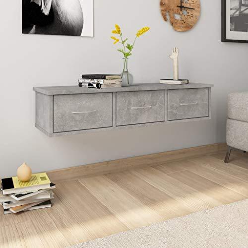 vidaXL Estante con Cajones Pared Aglomerado Hogar Decoración Diseño Bricolaje Mobiliario Mueble...