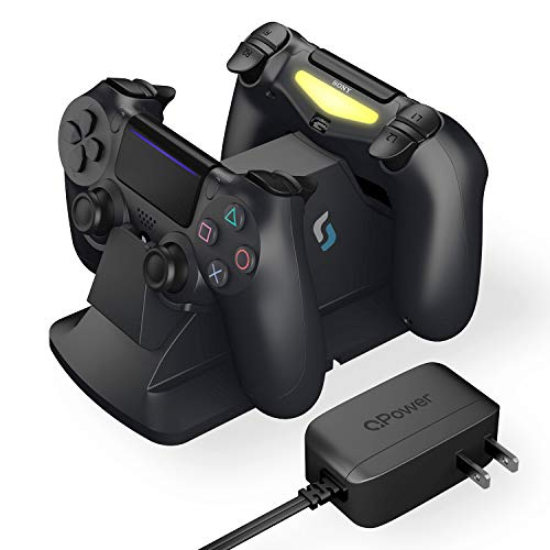 Sliq Gaming PS4 Controller Charging Station with QPower AC Adapter - Fully Charges Within 1 Hour