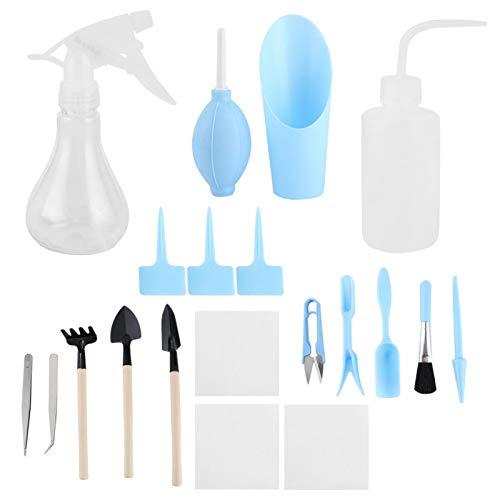 Herramientas carnosas, ABS ecológicas, herramientas para plantas suculentas, 19 piezas/juego, herramientas para...