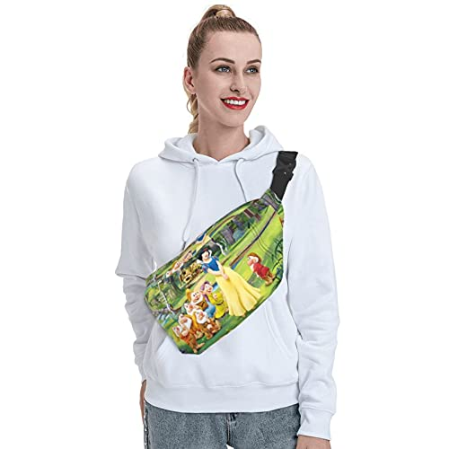 Skylivenation Snow White Seven Dwarfs Sling Bag, Outdoor Resistant Sling Backpack Crossbody, Anti Theft Chest Pack, Lightweight Hiking Travel Bags Daypack for Men Women.