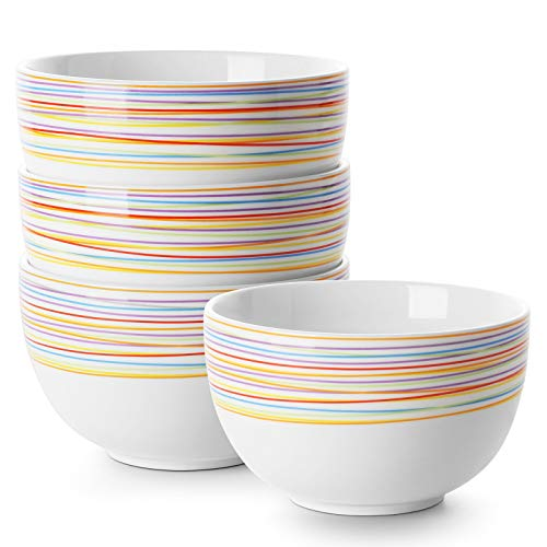 DOWAN Deep Cereal Bowls, 30 oz Deep Soup Bowls for Eating, Ceramic Serving Bowls for Oatmeal -...
